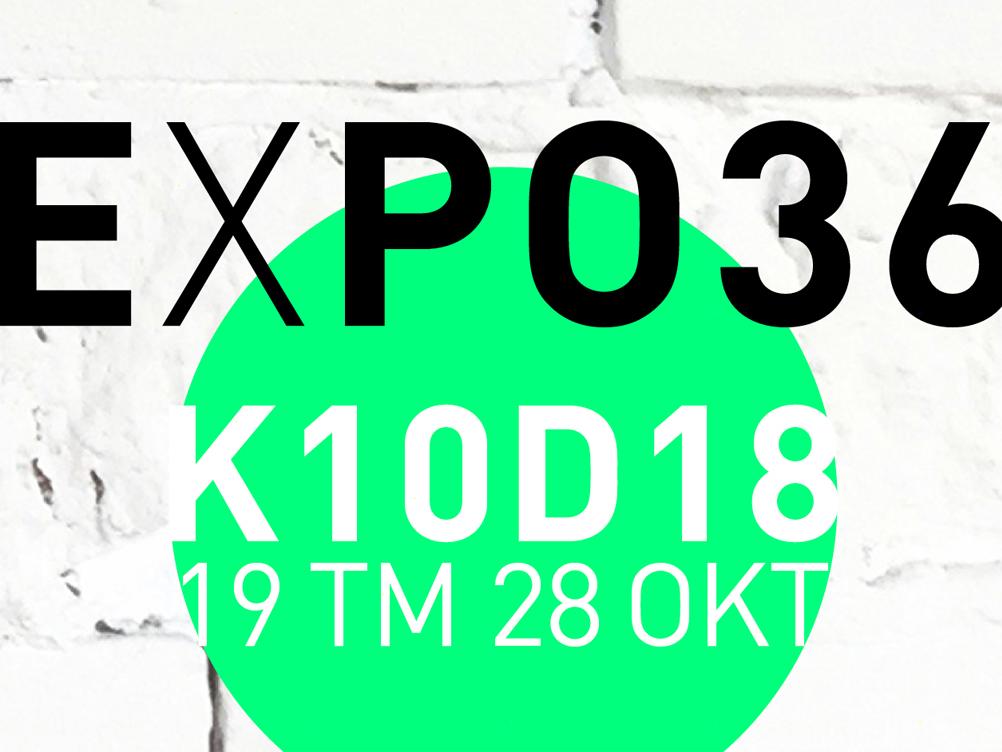 Expo36 | identiteit pop-up expositie | vrij werk